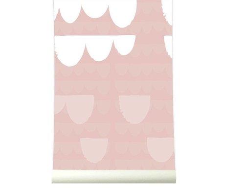 Roomblush Behang Falling roze papier 1140x50cm