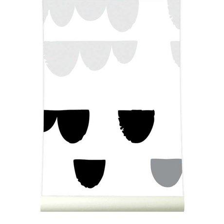 Roomblush Behang Falling zwart wit papier 1140x50cm