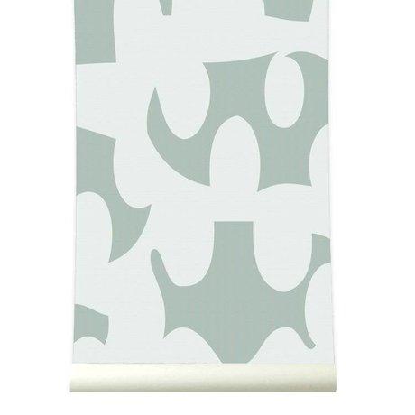 Roomblush Behang Dancing zachtgroen papier 1140x50cm