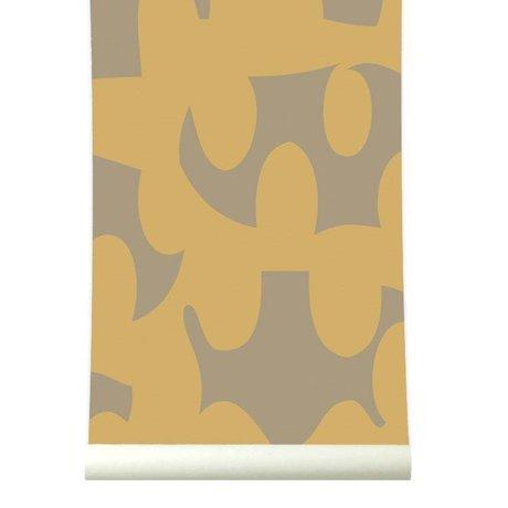 Roomblush Behang Dancing bruin papier 1140x50cm