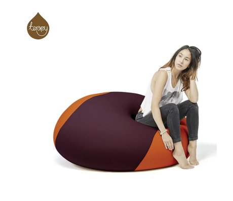 Terapy Zitzak Ollie aubergine oranje 100x100x80cm 700liter