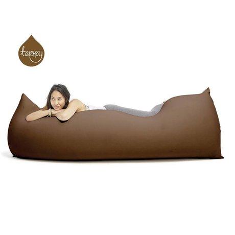 Terapy Zitzak Baloo choco bruin katoen 180x80x50cm 700liter