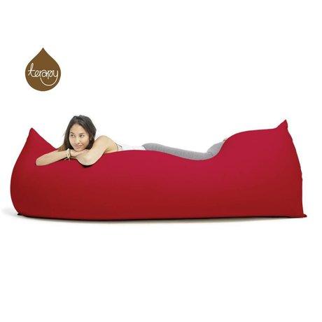Terapy Zitzak Baloo rood katoen 180x80x50cm 700liter