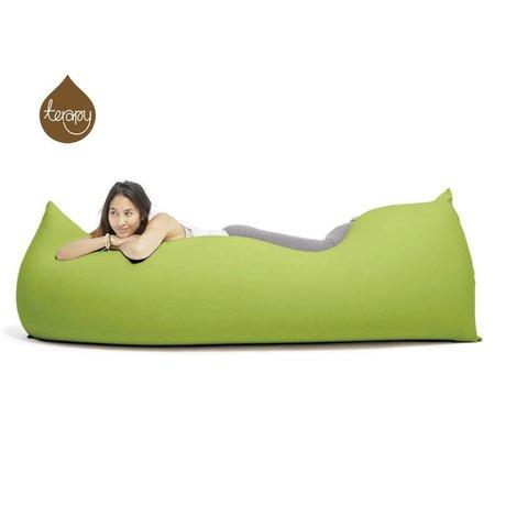 Terapy Zitzak Baloo groen katoen 180x80x50cm 700liter