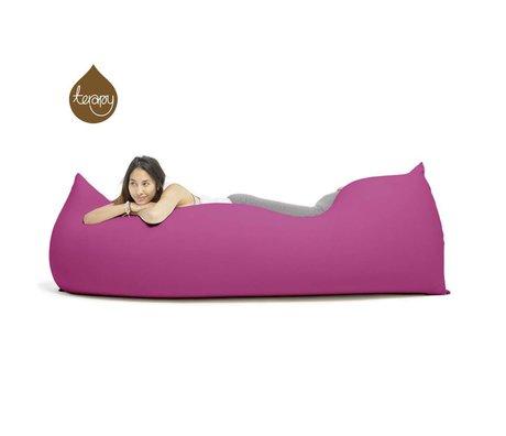 Terapy Zitzak Baloo roze katoen 180x80x50cm 700liter