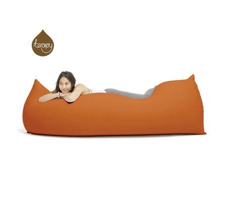 Terapy Zitzak Baloo oranje katoen 180x80x50cm 700liter