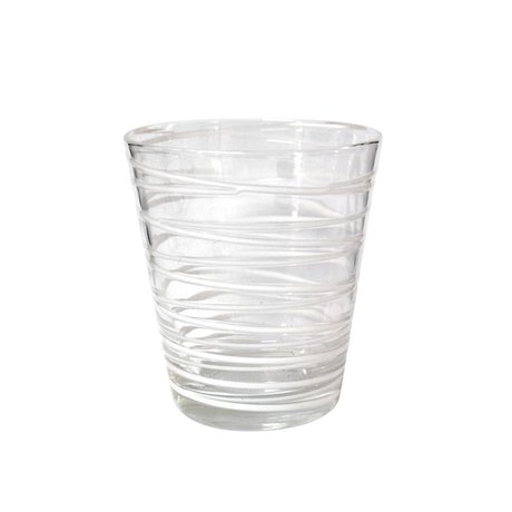 HK-living Limonade glas handgeblazen met witte strepen, set van 4