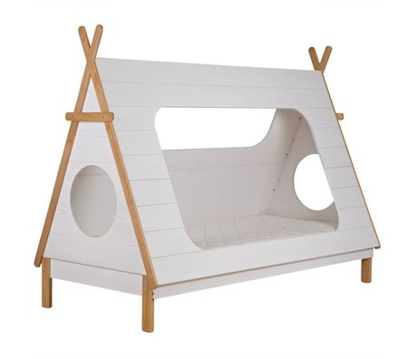 LEF collections Bed Tipi wit grenen 106x215x163cm