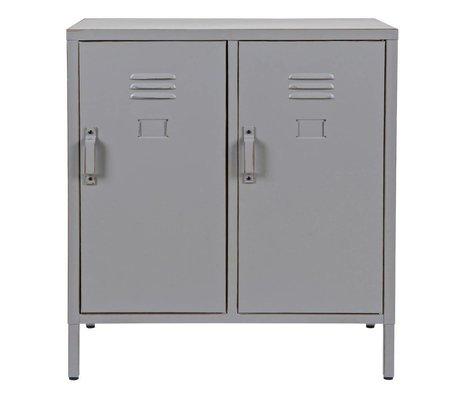 LEF collections Kast Max laag 2-deurs grijs metaal 65x35x73cm