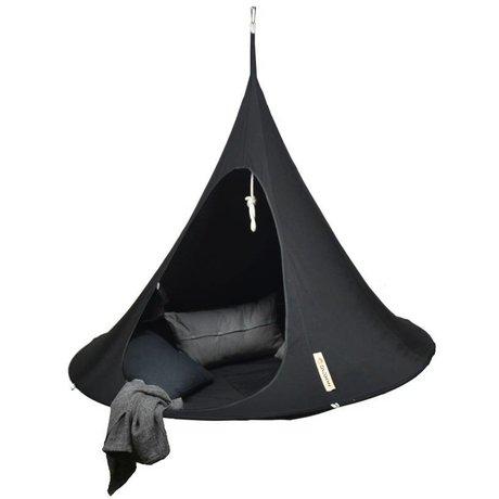Cacoon Hangstoel tent Double 2-persoons zwart 180x150cm
