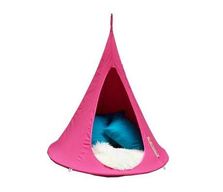Cacoon Hangstoel tent Bonsai fuchsia roze 125x120x125cm