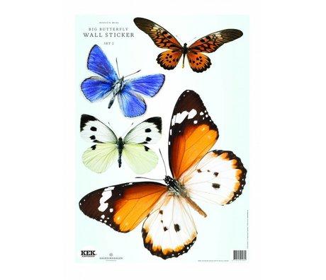 KEK Amsterdam Muursticker Butterfly set 2 (4 vlinders)