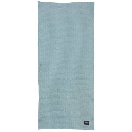 Ferm Living Badhanddoek Dusty blauw organisch katoen 70x140cm