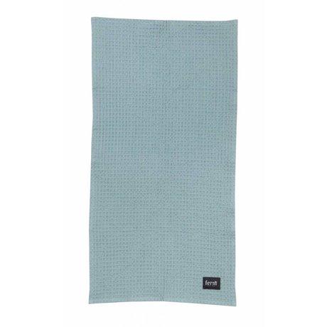 Ferm Living Handdoek Dusty blauw organisch katoen 50x100cm