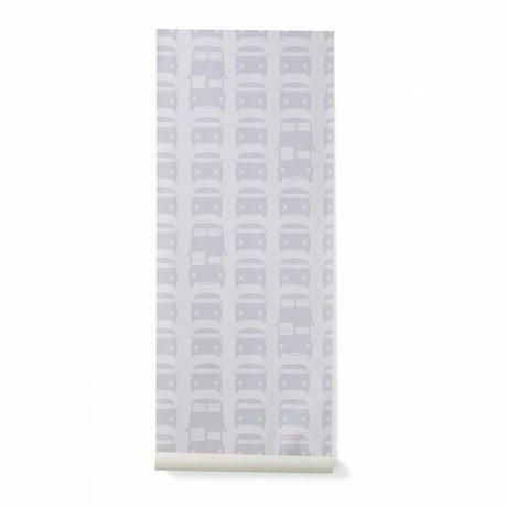 Ferm Living Behang Rush Hour papier grijs 10mx53cm