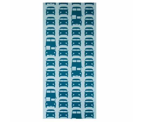 Ferm Living Behang Rush Hour papier petrol blauw 10mx53cm