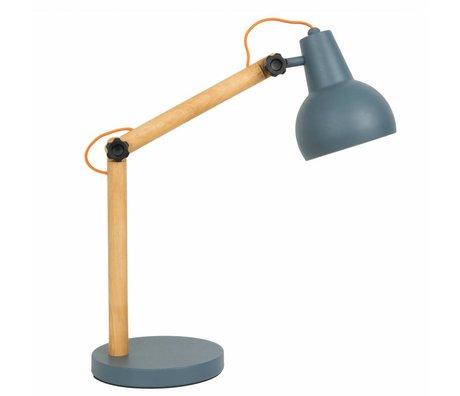 Zuiver Tafellamp Study hout metaal donker grijs 42,5x20x72,5cm