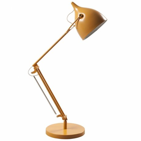 Zuiver Tafellamp Reader metaal mat geel Ø22xH76cm
