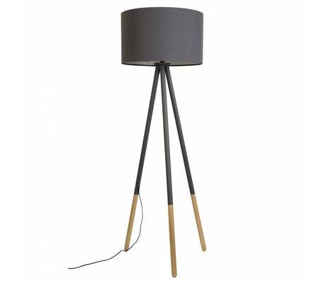 Zuiver Vloerlamp Highland metaal/hout donker grijs Ø53xH155cm