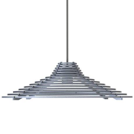 Graypants Hanglamp Echo grijs aluminium Ø44x12cm