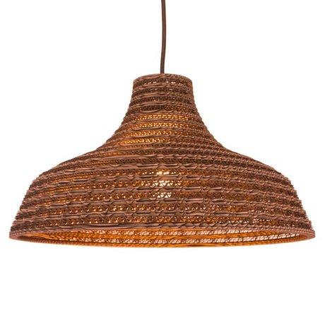 Graypants Hanglamp Work 16 bruin karton Ø41x23cm