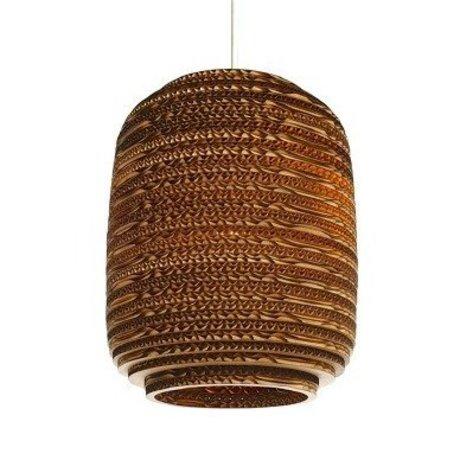 Graypants Hanglamp Ausi 8 bruin karton Ø19x24cm