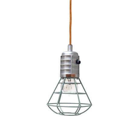 Storebror Hanglamp Mijnlamp metaal groen Ø14x22cm