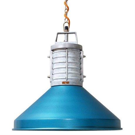 Storebror Hanglamp Rustic industrie blauw metaal Ø48x46cm