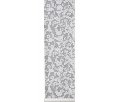 Ferm Living Behang Vanitas grijs bloem papier 10x0.53cm