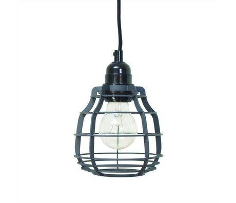 HK-living Hanglamp LAB mat grijs met stekker metaal Ø13x13x17cm