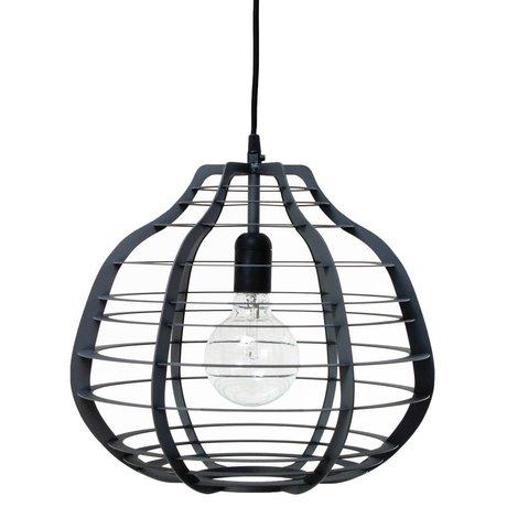 HK-living Hanglamp LAB XL zwart metaal 36x36x32cm