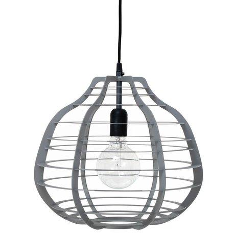 HK-living Hanglamp LAB XL grijs mat metaal 36x36x32cm