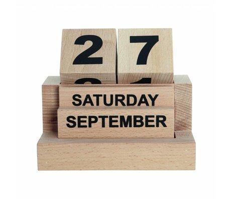 Housedoctor Kalender Eternity houten blokken l12xb8xh10,5cm