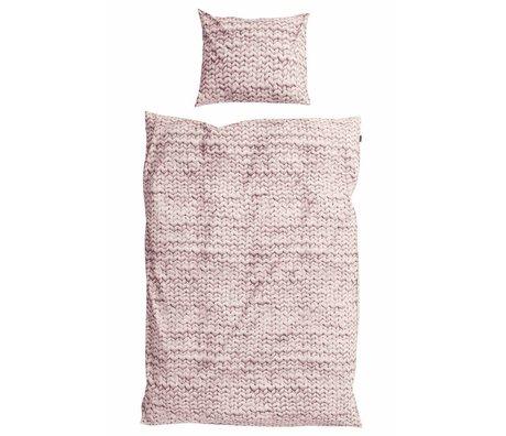 Snurk Beddengoed Dekbedovertrek Twirre roze dusty pink 3 maten