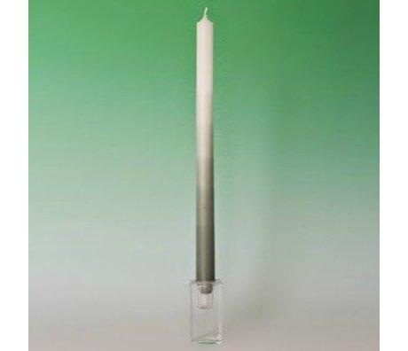 "LEF collections Kaars XL wit met dip groen ""jade green"" paraffine L35cm"