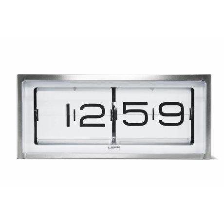 LEFF Amsterdam Klok Brick wand en tafelklok aluminium wit 36x12,8x15,7cm