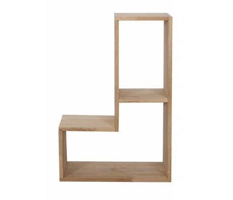 LEF collections Stapelkast 'Tetris' bruin naturel eiken stapelkast 80x27x54cm