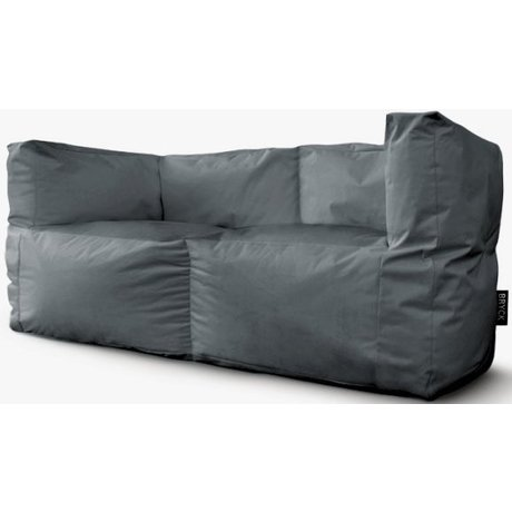 BRYCK Loungebank 'Couch GREYtime' grijs textiel 75x75x175cm