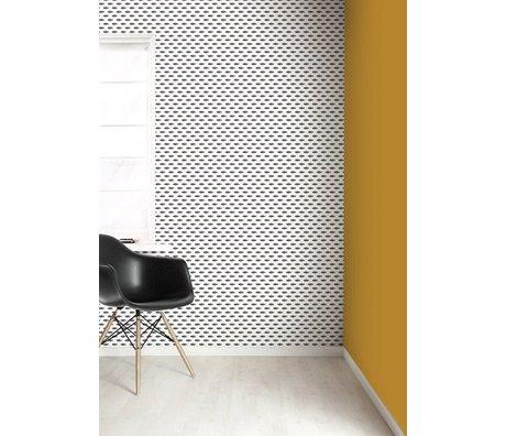 KEK Amsterdam Behang papier zwart/wit 8.3m x 47.5 cm, Wallpaper 088 laatste rol