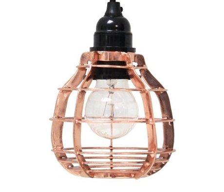 HK-living Hanglamp LAB met plafondkapje koper metaal Ø13x17cm, LAB lamp Koper