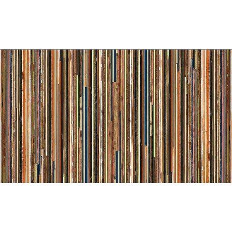 Piet Hein Eek Behang 'Sloophout 15' papier multicolor 900 x 48,7 cm