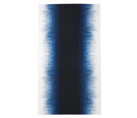 Ferm Living Tafelkleed 'PEN TABLE CLOTH' 140x240cm blauw/wit pennenstreep print 100% katoen