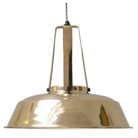 HK-living Hanglamp messing metaal Ø42x50cm, industriële lamp 'Workshop' L brass