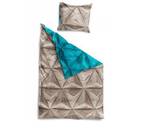 Snurk Beddengoed Dekbedovertrek 'Monogami Blue' blauw katoen 3 maten