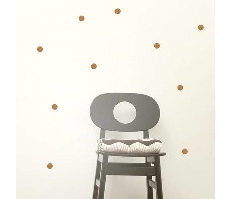 Ferm Living Muurstickers Mini Dots koper vinyl 54 stuks op A4