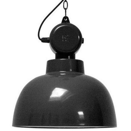 """HK-living hanglamp zwart metaal Ø40x45cm, industriële lamp """"Factory"""" M"""