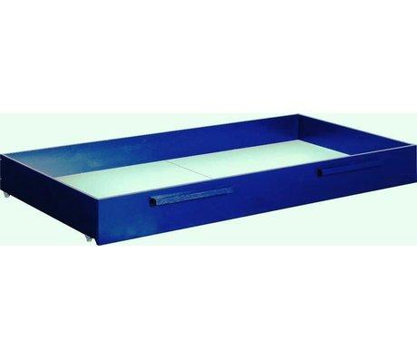 LEF collections Bedlade voor 1-persoonsbed max, donkerblauw grenen, 21x184x91cm