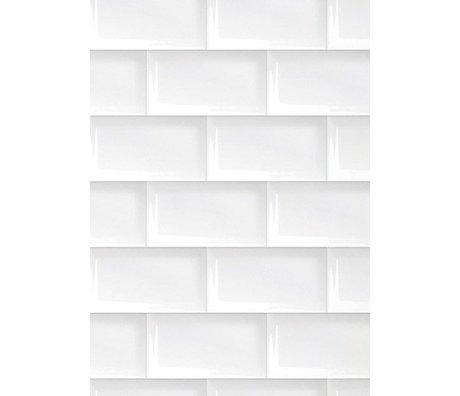 KEK Amsterdam Behang papier wit 8.3m x 47.5 cm, Wallpaper 089