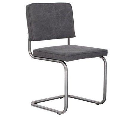 Zuiver Eetkamerstoel geborsteld buis frame midden grijs katoen 48x48x85cm, Chair Ridge brushed vintage mediocre grey