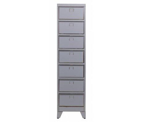 LEF collections Kast met kleppen 'Max 7' grijs metaal 160x40x33cm